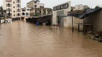 Social media video grab of flooding in Lycee de Yoff Village in Dakar, Senegal