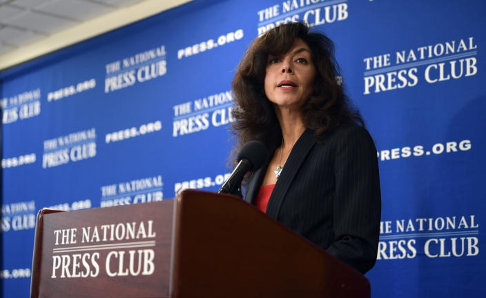 Judge Tabaddor speaking at the National Press Club in Washington on Friday. (Photo: Susan Walsh/AP)