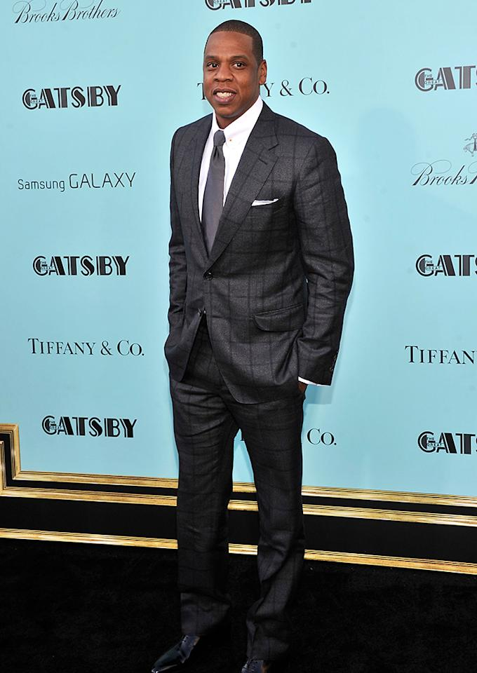 "Jay-Z attends the ""The Great Gatsby"" world premiere at Avery Fisher Hall at Lincoln Center for the Performing Arts on May 1, 2013 in New York City.  (Photo by Stephen Lovekin/Getty Images)"