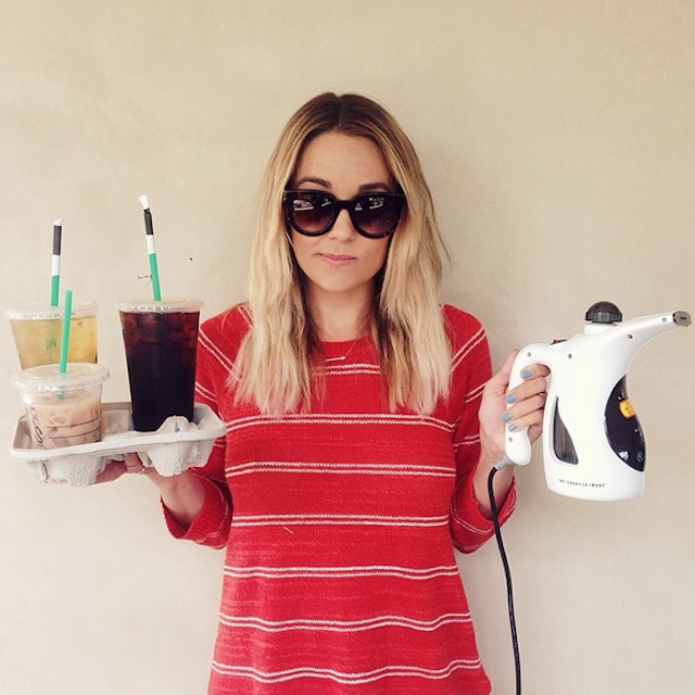 Lauren Conrad knows the struggle of starting each morning without a coffee. Photo: Instagram/Lauren Conrad