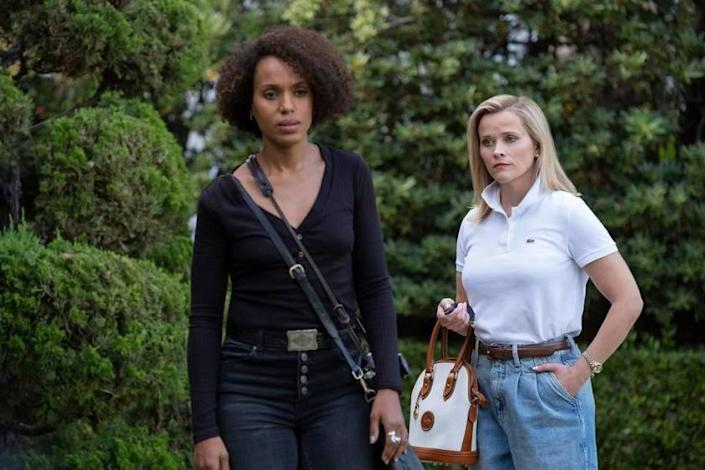 """Kerry Washington and Reese Witherspoon in a scene from """"Little Fires Everywhere."""""""