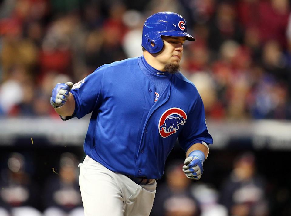 Kyle Schwarber had two hits and drove in two runs in the Cubs' Game 2 victory over the Indians. (USA Today)