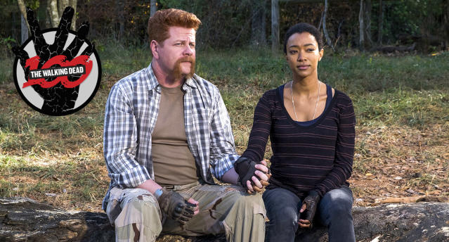 Michael Cudlitz as Sgt. Abraham Ford and Sonequa Martin-Green as Sasha Williams in AMC's 'The Walking Dead' (Photo: Gene Page/AMC)