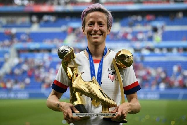 United States' forward Megan Rapinoe claimed the Golden Boot and Golden Ball awards as she won the women's World Cup this summer (AFP Photo/FRANCK FIFE)