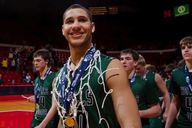 Howells-Dodge star Matthew Gooch after winning the state title — Lincoln Star Journal
