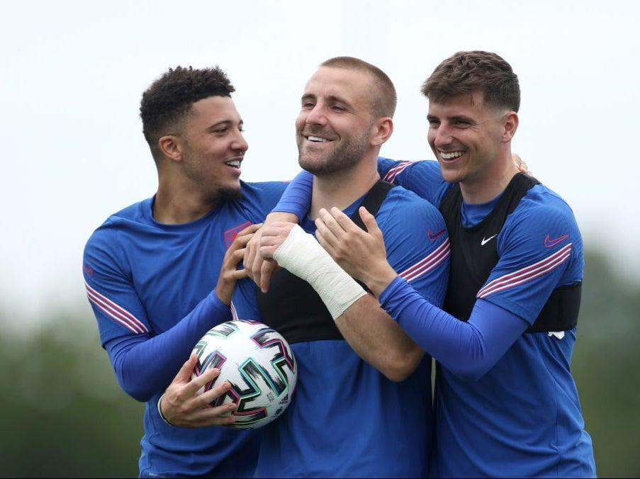 England are all smiles in training (The FA via Getty Images)