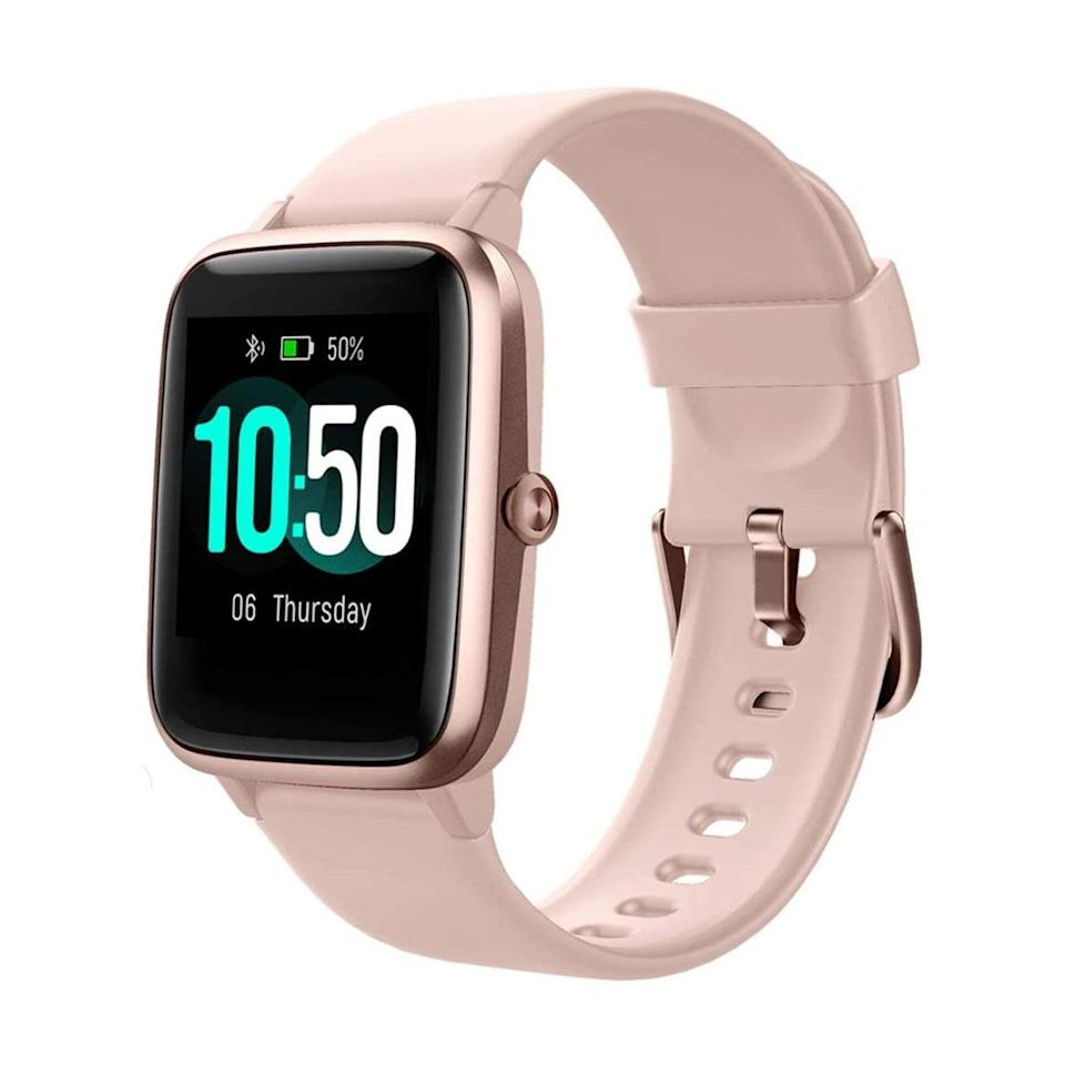 """If you love smartwatches but don't love the price, consider this top-rated Amazon buy from Yamay. It has nearly 14,000 five-star reviews—virtually all of which praise the watch's surprising quality for the price. $36, Amazon. <a href=""""https://www.amazon.com/YAMAY-Fitness-Waterproof-Smartwatch-Compatible/dp/B082LTBZS1/ref=sr_1_5"""" rel=""""nofollow noopener"""" target=""""_blank"""" data-ylk=""""slk:Get it now!"""" class=""""link rapid-noclick-resp"""">Get it now!</a>"""
