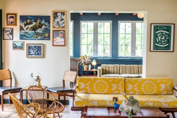 Homely: Freehand Miami's design has a 1970s influence (Justin Namon)