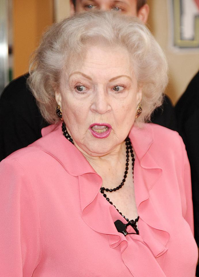 """After doing an incredible job as host of """"Saturday Night Live,"""" Betty White has reportedly scored an offer from another high-profile show. According to PopEater, White was approached to strut her stuff on """"Dancing With the Stars,"""" although she """"hasn't agreed to anything yet."""" Read <a href="""" http://www.gossipcop.com/site-missteps-with-betty-white-dancing-with-the-stars-offer/"""" target=""""new"""">Gossip Cop</a> to find out if we can really expect to see the former """"Golden Girl"""" doing the Cha Cha. Jason LaVeris/ FilmMagic.com - April 19, 2010"""