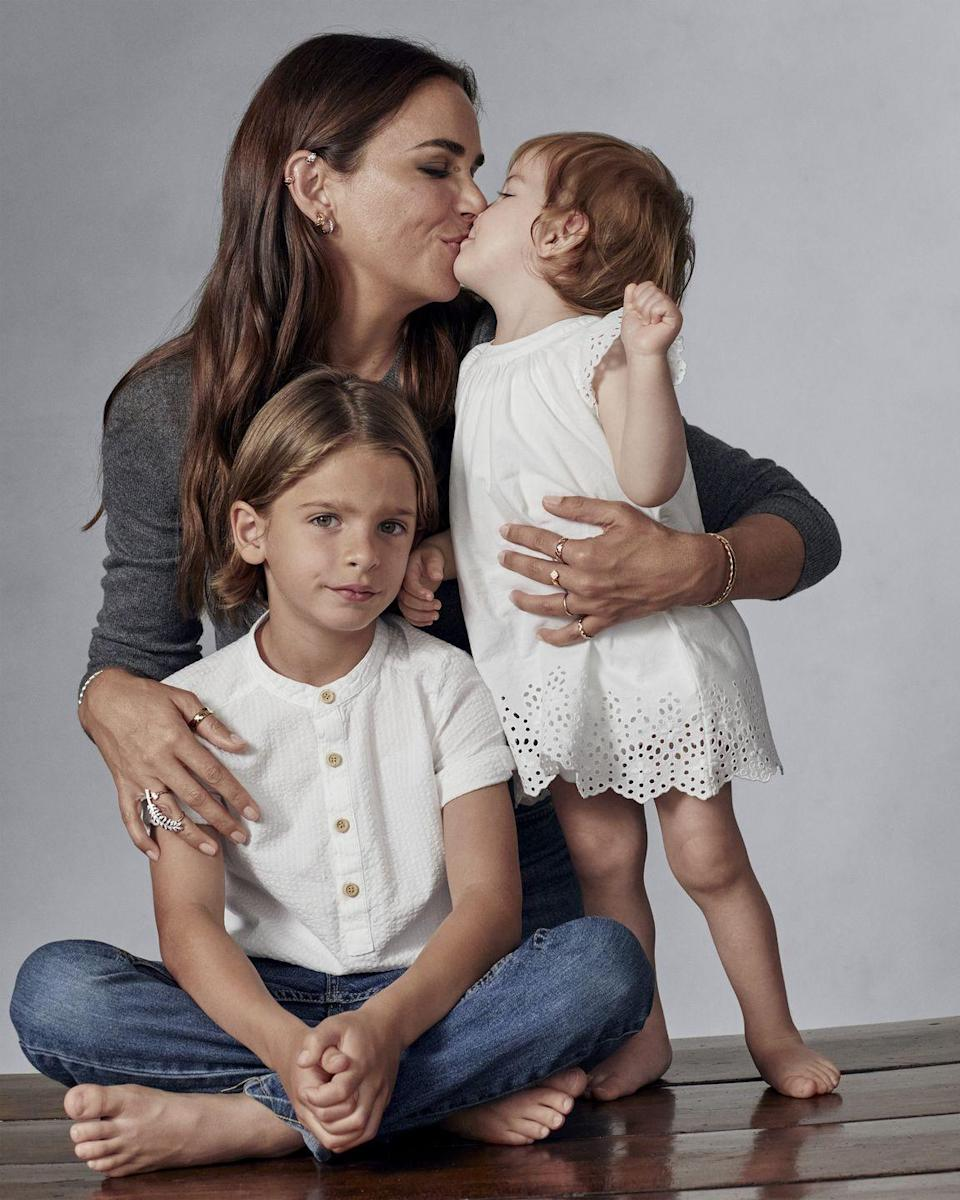 """<p><strong>Has how you think about, buy or collect jewelry changed since becoming a mother?</strong></p><p><em>I actually love wearing jewelry even more since becoming a mother, as I see how much my children appreciate them, and how much it stimulates them—especially necklaces that very often became """"entertainment"""" to gather their focus/calm them down. Marguerite has absolutely loved the sound of my bracelets since she was born. My son always notifies and comments when I switch them around. I favor everyday pieces these days compared to statement/delicate pieces.</em></p><p><strong>What is one surprising aspect of becoming a mother that you never could have expected?</strong></p><p><em>I hadn't realized how early you can tell someone's personality, I think it definitely starts in the wound. Having two children now also emphasize it greatly!</em><br></p>"""
