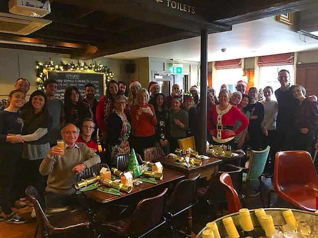 Volunteers at last year's Christmas Day event (Photo: The Alexandra Pub)