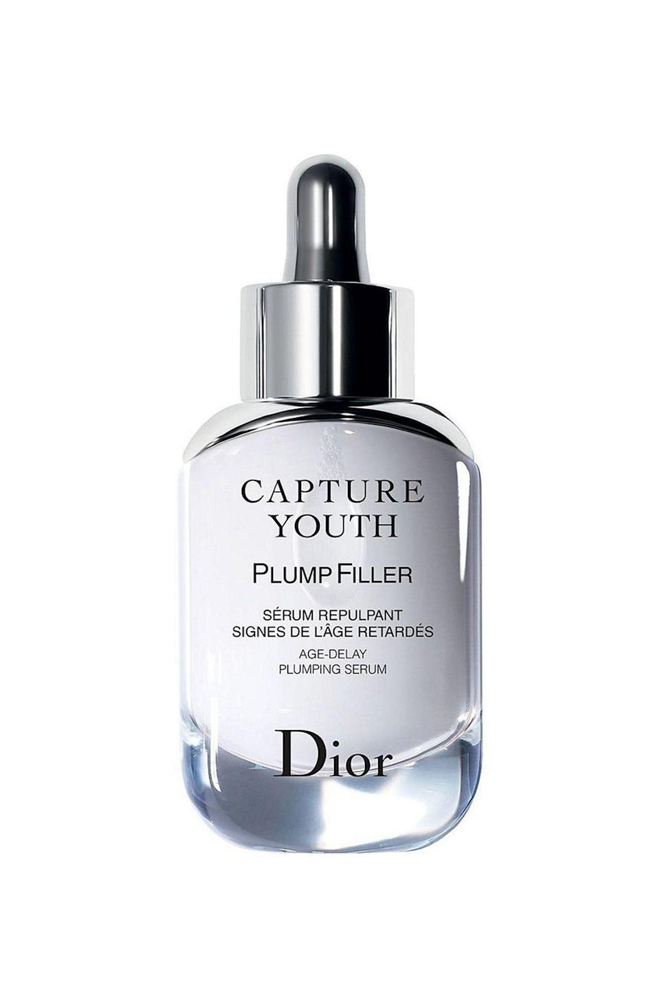 "<p><strong>Dior</strong></p><p>sephora.com</p><p><strong>$95.00</strong></p><p><a href=""https://go.redirectingat.com?id=74968X1596630&url=https%3A%2F%2Fwww.sephora.com%2Fproduct%2Fcapture-youth-serum-P428255&sref=https%3A%2F%2Fwww.redbookmag.com%2Fbeauty%2Fg34658814%2Fface-serum%2F"" rel=""nofollow noopener"" target=""_blank"" data-ylk=""slk:Shop Now"" class=""link rapid-noclick-resp"">Shop Now</a></p><p>There's five varied facial serums in the Dior collection, but we chose this one—which is loaded with hyaluronic acid—to quench the skin and release fine lines for a supple, fuller face. </p>"