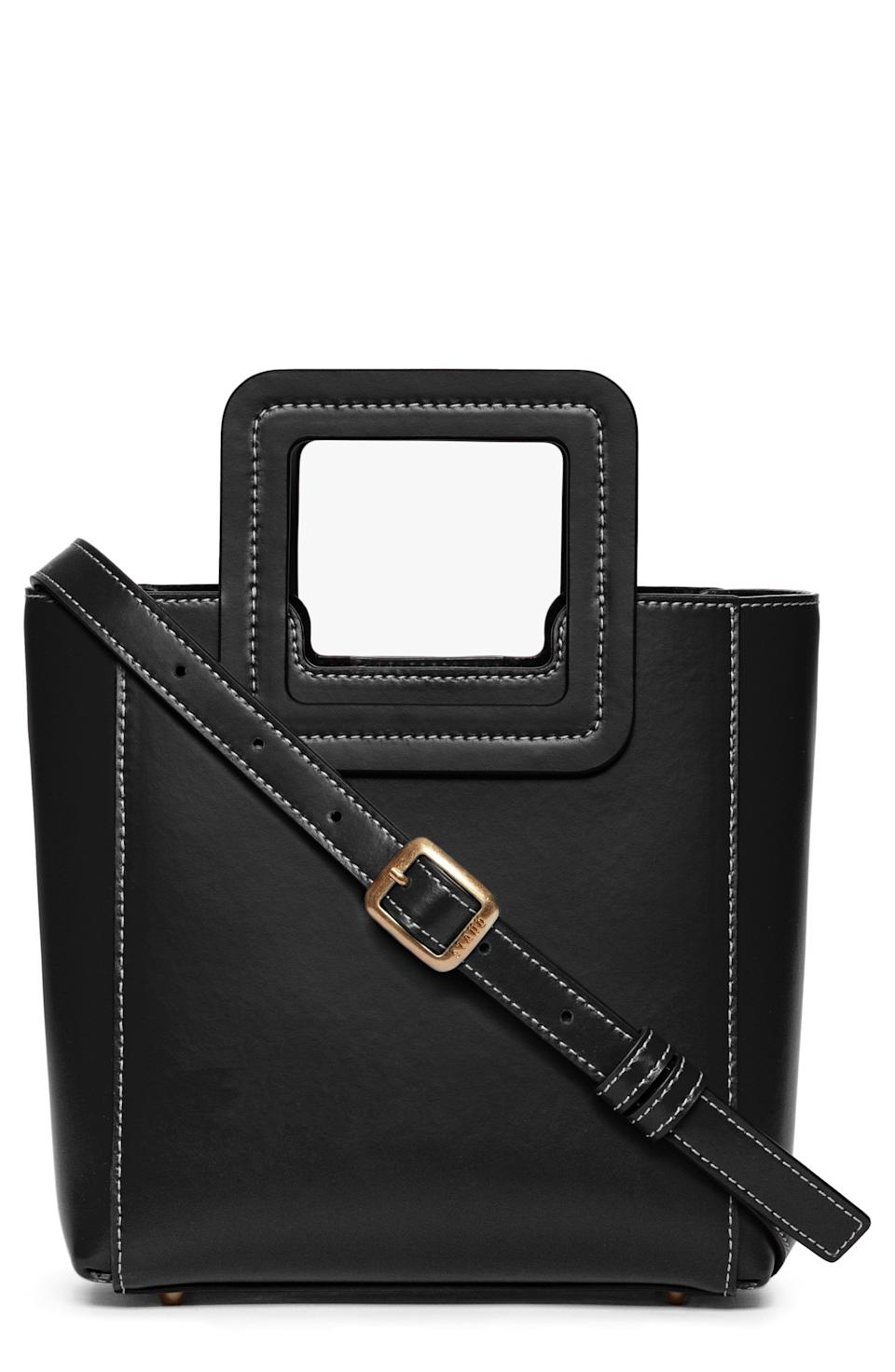"""<p><strong>STAUD</strong></p><p>nordstrom.com</p><p><a href=""""https://go.redirectingat.com?id=74968X1596630&url=https%3A%2F%2Fwww.nordstrom.com%2Fs%2Fstaud-mini-shirley-leather-satchel%2F6111821&sref=https%3A%2F%2Fwww.townandcountrymag.com%2Fstyle%2Ffashion-trends%2Fg36557314%2Fnordstrom-half-yearly-sale-may-2021%2F"""" rel=""""nofollow noopener"""" target=""""_blank"""" data-ylk=""""slk:Shop Now"""" class=""""link rapid-noclick-resp"""">Shop Now</a></p><p>$150</p><p><em>Original Price: $250</em></p>"""