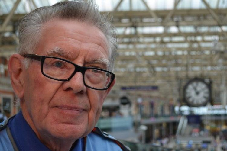 <p>Don Buckley was given an official send-off at Waterloo station on Wednesday</p> (South Western Railway)