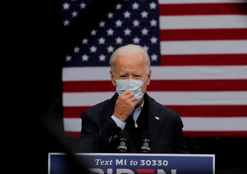 After Trump's COVID-19 diagnosis, Biden says masks not about being a 'tough guy'