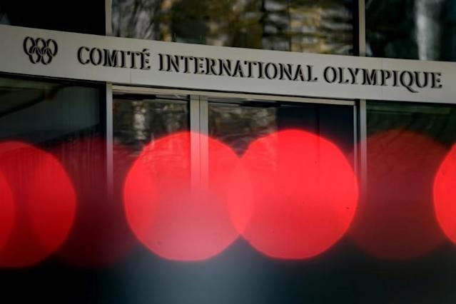 """A statement from the IOC's Lausanne headquarters said a remote session was on the cards after the 2020 Games were delayed a year and because of the """"measures being implemented in Switzerland and around the world"""" due to the coronavirus pandemic (AFP Photo/Fabrice COFFRINI)"""