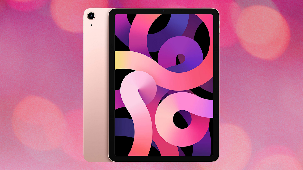 Save $74 on the newest Apple iPad Air in Rose Gold. (Photo: Amazon)