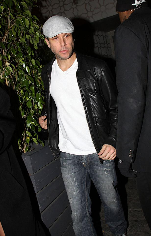 "Comedian Dane Cook was in a more mellow mood as he strolled out of the exclusive club. Cheer up, Dane! Yes, ""Good Luck Chuck"" was terrible, but your fans will forgive you in time. Josephine Santos/<a href=""http://www.pacificcoastnews.com/"" target=""new"">PacificCoastNews.com</a> - April 22, 2010"