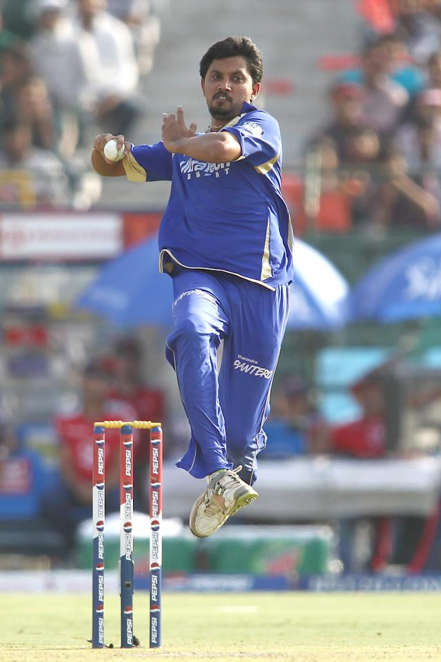 Siddharth Trivedi of Rajasthan Royals sends down a delivery during match 52 of the Pepsi Indian Premier League (IPL) 2013 between The Rajasthan Royals and the Delhi Daredevils held at the Sawai Mansingh Stadium in Jaipur on the 7th May 2013..Photo by Shaun Roy-IPL-SPORTZPICS  ..Use of this image is subject to the terms and conditions as outlined by the BCCI. These terms can be found by following this link:..https://ec.yimg.com/ec?url=http%3a%2f%2fwww.sportzpics.co.za%2fimage%2fI0000SoRagM2cIEc&t=1503128582&sig=1WO0TVPrWAYD.k4CqXYsmg--~D