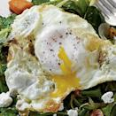 """<p>The key here is to fry the <a href=""""https://www.myrecipes.com/egg-recipes"""" rel=""""nofollow noopener"""" target=""""_blank"""" data-ylk=""""slk:eggs"""" class=""""link rapid-noclick-resp"""">eggs</a> fast (listen for the sizzle) and baste the yolks with the hot oil until they're opaque.</p>"""