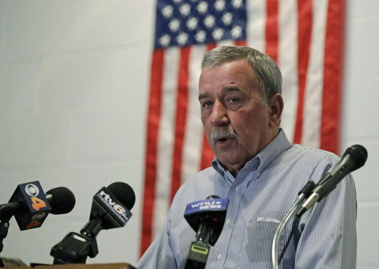 United Steelworkers Local 1999 President Chuck Jones speaks during a news conference Friday in Indianapolis. (Photo: Darron Cummings/AP)