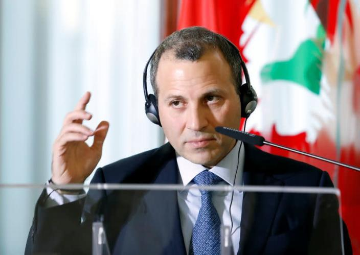 Lebanese Foreign Minister Gebran Bassil attends a meeting with Italian counterpart Angelino Alfano in Rome