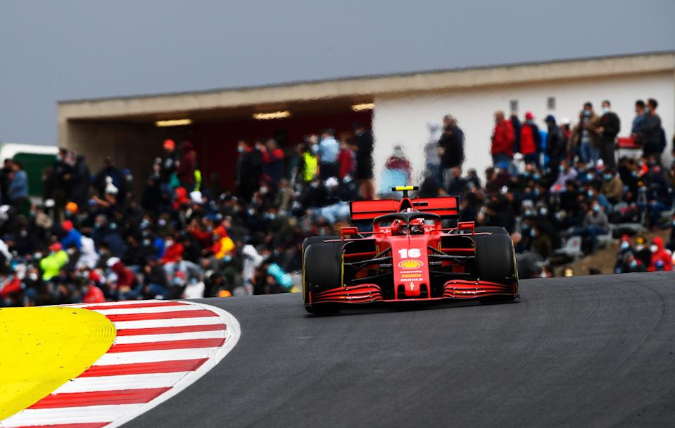 Charles Leclerc in action at Autodromo Internacional do Algarve (Getty Images)