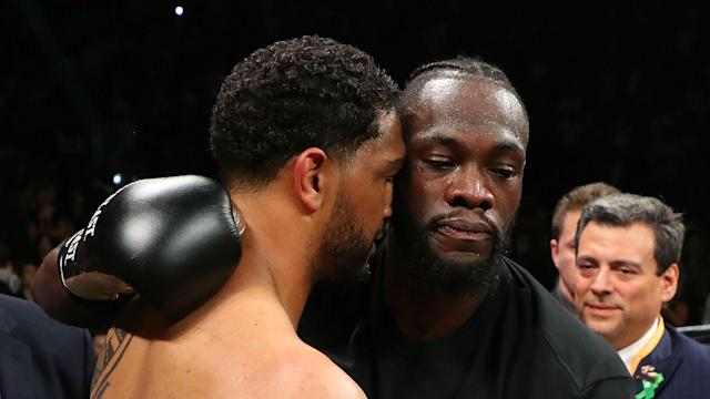 WBC heavyweight champion Deontay Wilder floored Dominic Breazeale with a stunning right, but the challenger was frustrated by the stoppage.