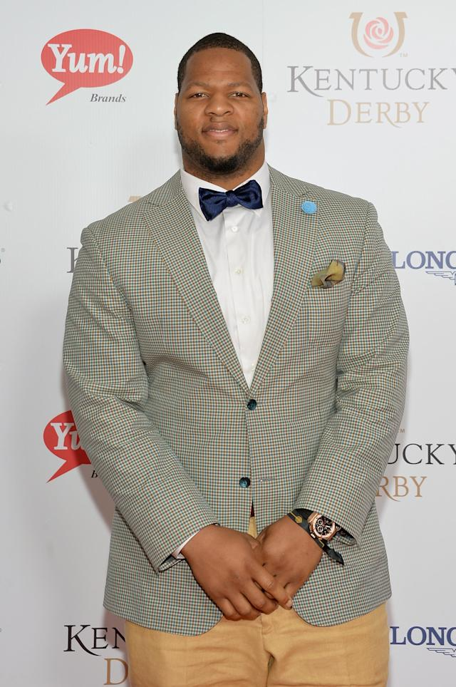LOUISVILLE, KY - MAY 03: NHL player Ndamukong Suh attends 140th Kentucky Derby at Churchill Downs on May 3, 2014 in Louisville, Kentucky. (Photo by Mike Coppola/Getty Images)