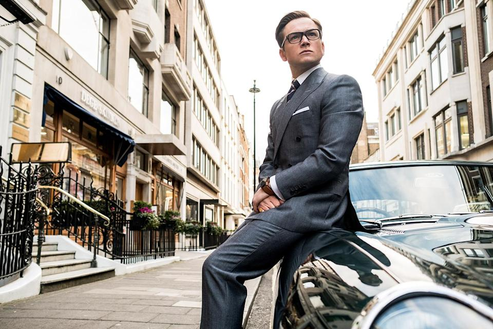 "Taron Egerton as secret service agent Eggsy in ""Kingsman: The Golden Circle"""