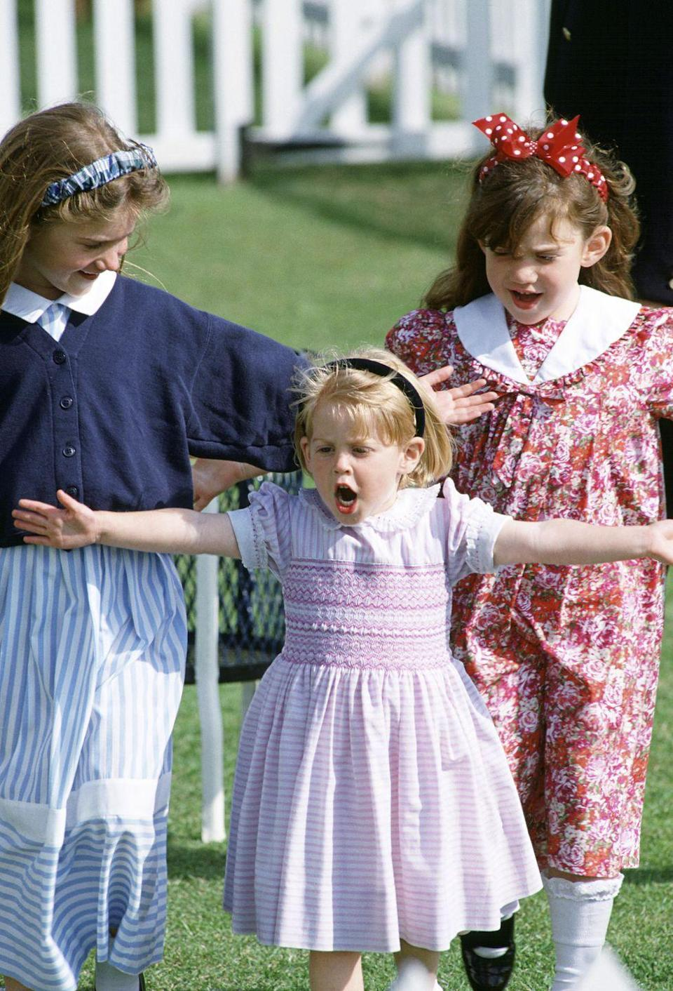 <p>Princess Beatrice clearly had something to say about this adorable pink dress she wore in 1991.</p>