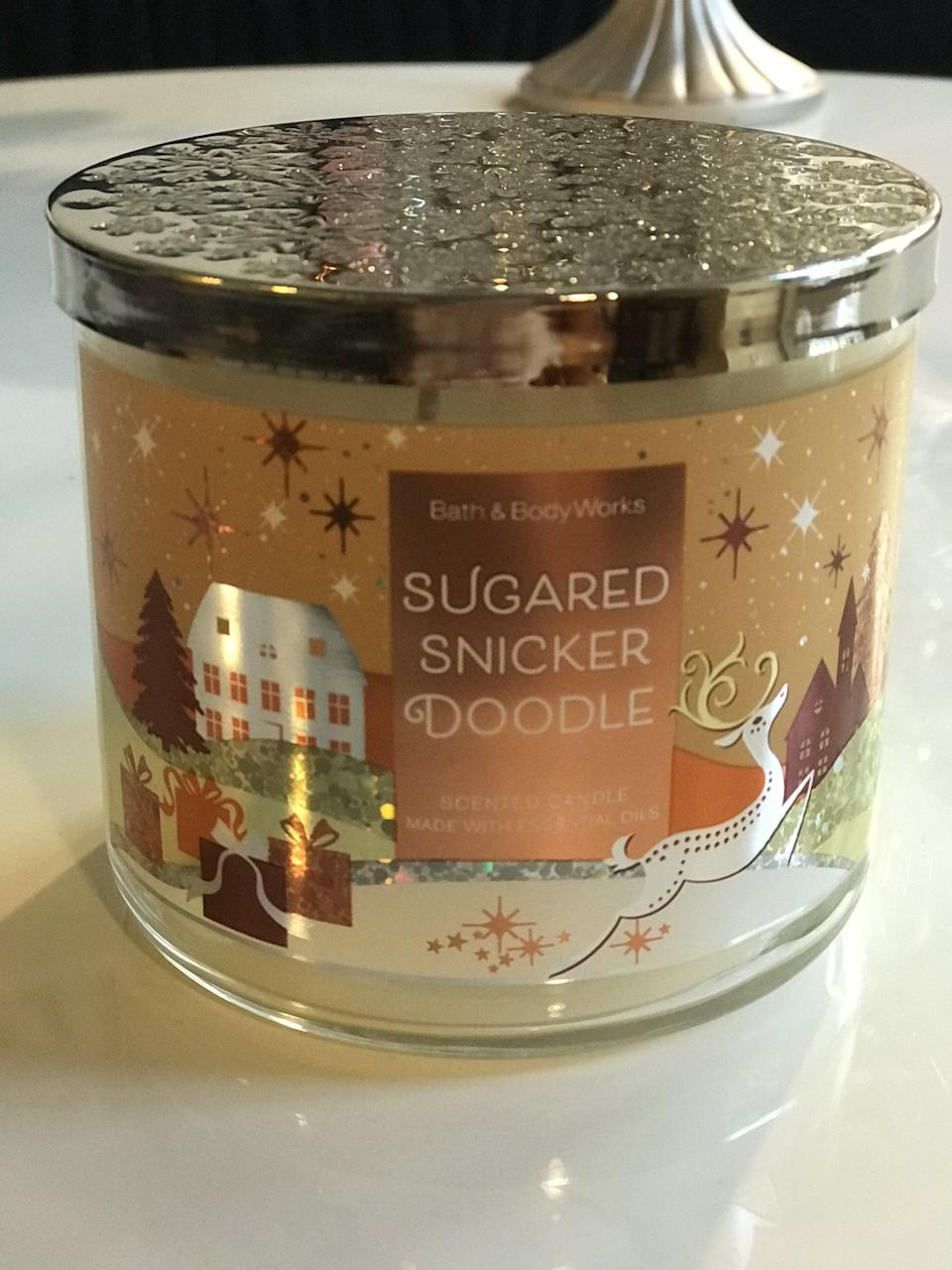 <p><span>Sugared Snickerdoodle 3-Wick Candle</span> ($15, originally $25)</p> <p><strong>What It Smells Like:</strong> A big bowl of freshly ground spices and vanilla bean.</p>