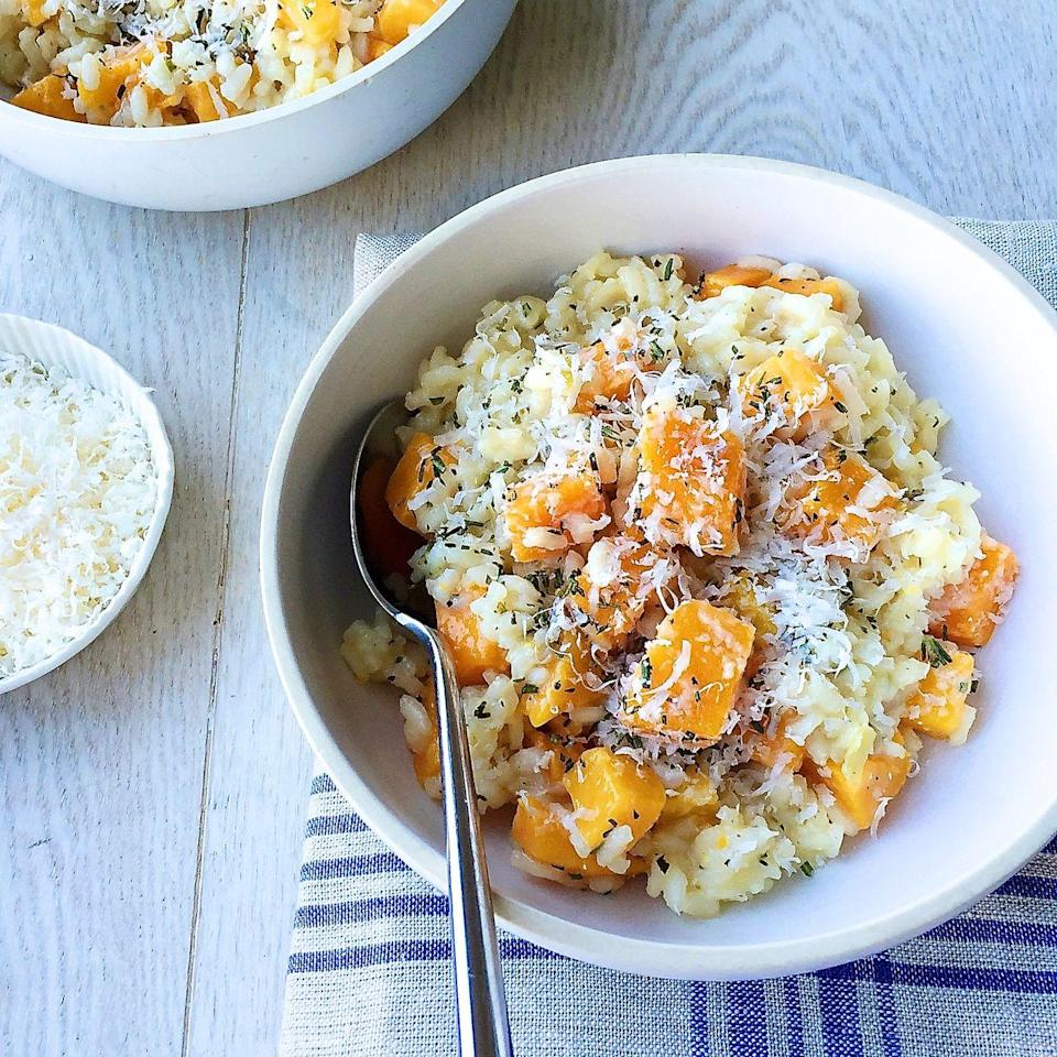"""<p>Fall-ify your risotto with butternut squash.</p><p>Get the recipe from <a href=""""https://www.delish.com/cooking/recipe-ideas/recipes/a44148/butternut-squash-risotto-parmesan-recipe/"""" rel=""""nofollow noopener"""" target=""""_blank"""" data-ylk=""""slk:Delish"""" class=""""link rapid-noclick-resp"""">Delish</a>.</p>"""
