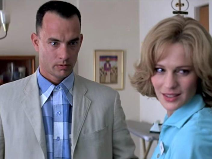 Forrest Gump Tom Hanks and Robin Wright as Jenny