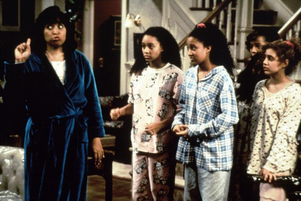 """<p>Take it back to the '90s with <strong>Sister, Sister</strong>. Tia and Tamera, twin sisters who were separated at birth, reunite after 14 years and eventually move in together, blending both families and personalities. </p> <p> <a href=""""http://www.netflix.com/search?q=sister&amp;jbv=70157256"""" class=""""link rapid-noclick-resp"""" rel=""""nofollow noopener"""" target=""""_blank"""" data-ylk=""""slk:Watch Sister, Sister on Netflix now."""">Watch <strong>Sister, Sister</strong> on Netflix now.</a> </p>"""