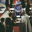 """<p>Diana let her nerves show when she <a href=""""http://www.bbc.co.uk/history/events/prince_charles_and_lady_diana_spencers_wedding"""" rel=""""nofollow noopener"""" target=""""_blank"""" data-ylk=""""slk:accidentally mixed up"""" class=""""link rapid-noclick-resp"""">accidentally mixed up</a> Prince Charles' full name, referring to him as Philip Charles Arthur George rather than Charles Philip Arthur George. (I mean, who can blame her, that name is a mouthful.)</p>"""