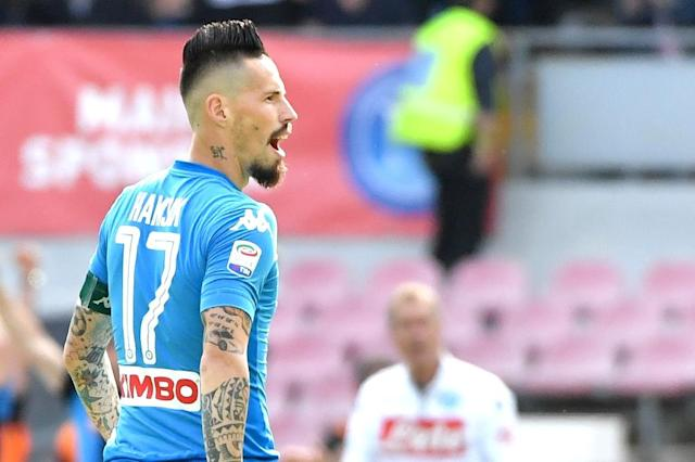 Napoli's midfielder from Slovakia Marek Hamsik who said Sunday he was tempted by a move to China (AFP Photo/Andreas SOLARO)