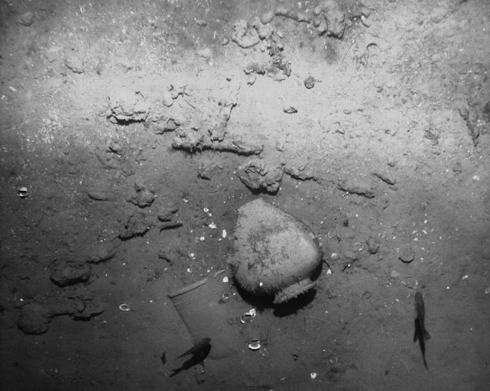 The remains of the Spanish galleon San Jose sunk off the Caribbean coast of Cartagena de Indias, Colombia seen in an undated picture released on December 5, 2105 by the Colombian Culture Ministry's press office (AFP Photo/)