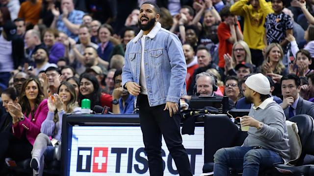 Drake made sure to troll Giannis Antetokounmpo and the Milwaukee Bucks. (Vaughn Ridley/Getty Images)