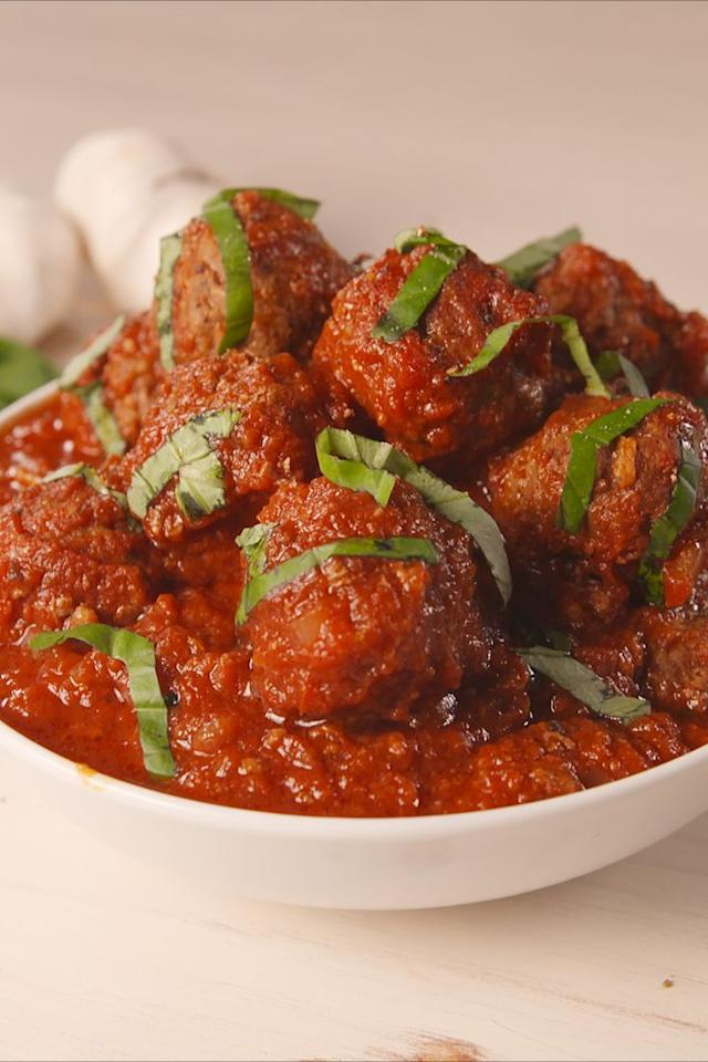 """<p>Your patience will be rewarded.</p><p>Get the recipe from <a href=""""https://www.delish.com/cooking/recipe-ideas/a19625574/slow-cooker-paleo-meatballs-recipe/"""" target=""""_blank"""">Delish</a>.</p><p><a class=""""body-btn-link"""" href=""""https://www.amazon.com/Hamilton-Beach-33262A-Cooker-6-Quart/dp/B00IWOJSJK?tag=syn-yahoo-20&ascsubtag=%5Bartid%7C1782.g.1419%5Bsrc%7Cyahoo-us"""" target=""""_blank"""">BUY NOW</a> <em><strong>Hamilton Beach Slow Cooker, $33, amazon.com</strong></em><br></p>"""