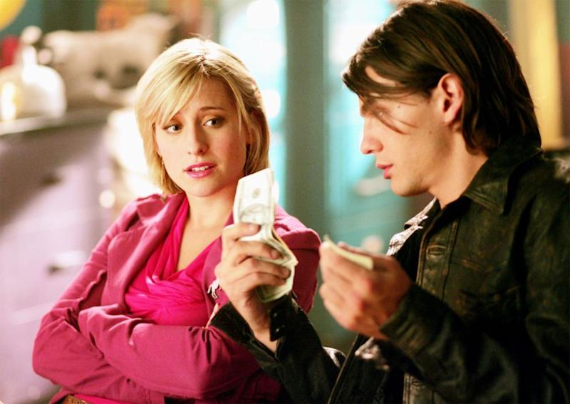 Allison Mack (left) in <em>Smallville</em>