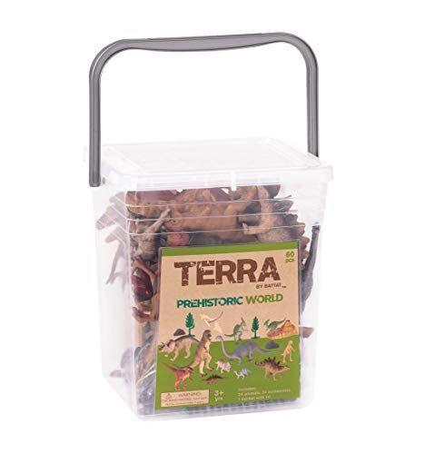 """<p><strong>Terra by Battat</strong></p><p>walmart.com</p><p><strong>$25.83</strong></p><p><a href=""""https://go.redirectingat.com?id=74968X1596630&url=https%3A%2F%2Fwww.walmart.com%2Fip%2FTerra-by-Battat-Prehistoric-World-Assorted-Miniature-Plastic-Dinosaur-Toys-Accessories-for-Kids-3-60-Pc%2F687753411&sref=https%3A%2F%2Fwww.goodhousekeeping.com%2Fchildrens-products%2Ftoy-reviews%2Fg4695%2Fbest-kids-toys%2F"""" rel=""""nofollow noopener"""" target=""""_blank"""" data-ylk=""""slk:Shop Now"""" class=""""link rapid-noclick-resp"""">Shop Now</a></p><p>A <a href=""""https://www.goodhousekeeping.com/childrens-products/toy-reviews/g26443909/best-new-toys-2019/"""" rel=""""nofollow noopener"""" target=""""_blank"""" data-ylk=""""slk:hot toy trend"""" class=""""link rapid-noclick-resp"""">hot toy trend</a> that hasn't dwindled in the past few years is dinosaurs. This little bucket comes with 24 dinosaurs and makes for <strong>easy storage or play on-the-go</strong>. <br></p><p><strong>RELATED: </strong><a href=""""https://www.goodhousekeeping.com/holidays/gift-ideas/g4624/stocking-stuffers-for-todders/"""" rel=""""nofollow noopener"""" target=""""_blank"""" data-ylk=""""slk:20+ Cute Stocking Stuffers for Toddlers"""" class=""""link rapid-noclick-resp"""">20+ Cute Stocking Stuffers for Toddlers</a></p>"""
