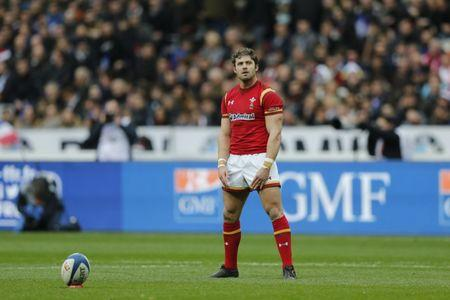 Rugby Union - Six Nations Championship - France v Wales - Stade de France, Saint-Denis near Paris, France - 18/03/2017 - Wales' Leigh Halfpenny prepares to kick a penalty. REUTERS/Benoit Tessier