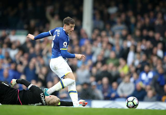 Everton's midfielder Ross Barkley at Goodison Park. - PA Wire/PA Images