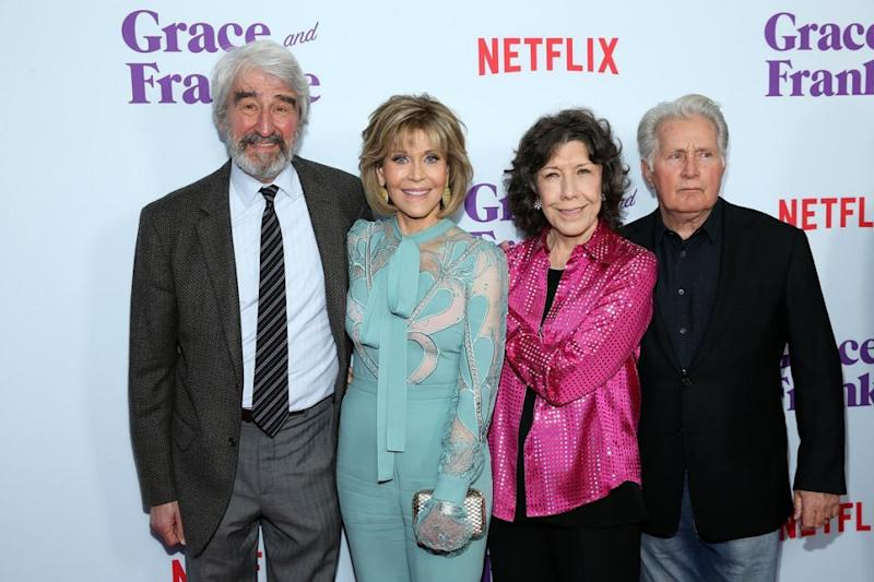 Jane, seen with the other stars of Grace & Frankie, told Be she thinks everybody should be able to get married. Source: Getty