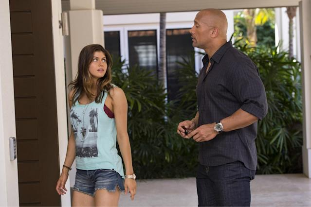 Alexandra Daddario is returning to the silver screen with her <em>San Andreas</em> co-star Dwayne Johnson. The actress has been cast as Summer in the <em>Baywatch</em> movie, Johnson announced on Instagram today. She's the first of the female leads to be cast so far, but The Rock shared that more announcements are coming soon. As Summer, Daddario will fill a role originally played by Nicole Eggert in the '90s TV series. The character appeared on the show in seasons three and four, serving as a love interest for Matt (David Charvet). Summer also had a lot of personal drama going on; she arrived in California to escape her mother's abusive ex-boyfriend and also dealt with an eating disorder. <strong>Related:</strong> The Baywatch movie might have found one (or more) of its leading ladies Daddario was among the actresses rumored to be in consideration last week. The list also included <i>Pretty Little Liars</i> star Ashley Benson, former <em>Vampire Diaries</em> leading lady Nina Dobrev, <i>Teen Wolf</i>'s Shelley Hennig, and more. Johnson and Zac Efron are currently set as the male leads. Daddario responded to a welcome tweet from Johnson, assuring him that she's already practicing the slow motion running the female <em>Baywatch</em> lifeguards were so famous for. Thank you! Extremely excited. Been practicing my slow-mo run all morning. https://t.co/3E2S2SlMHM — Alexandra Daddario (@AADaddario) November 18, 2015 In addition to <em>San Andreas</em>, Daddario has also appeared in the first season of HBO's <em>True Detective</em>, and guest starred on the TV series <em>White Collar</em> and <em>It's Always Sunny in Philadelphia</em>, among others. She most recently filmed the movie <em>The Layover</em> and will next be seen in <em>The Choice</em>. The <em>Baywatch</em> movie will be directed by Seth Gordon, with Johnson and Dany Garcia producing through Seven Buck Productions. Beau Flynn and Montecito Pictures are also producing, with Michael Berk, Douglas Schwarts, and 