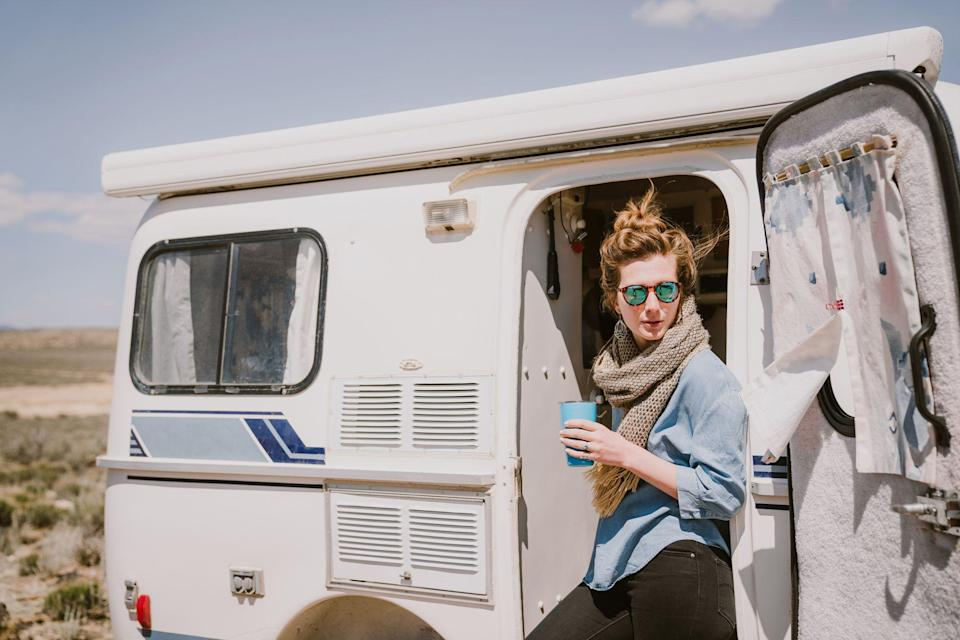 """<p>The van life movement has gotten increasingly popular. While there's no official estimate for how many people have embraced this type of nomadic lifestyle, in 2019, the Census Bureau estimated upwards of 140,000 people lived in vans, RVs, or boats, representing a nearly 40% uptick from three years earlier, per <a href=""""https://www.nytimes.com/2021/04/02/us/living-in-a-van-coronavirus-pandemic.html"""" rel=""""nofollow noopener"""" target=""""_blank"""" data-ylk=""""slk:The New York Times"""" class=""""link rapid-noclick-resp""""><em>The New York Times</em></a>. And with remote work skyrocketing, living in a van gave many a unique way to be location-agnostic and relish the best of America's great outdoors without breaking the bank.</p><p>From <a href=""""https://www.bestproducts.com/tech/gadgets/g3416/best-portable-mini-small-projectors/"""" rel=""""nofollow noopener"""" target=""""_blank"""" data-ylk=""""slk:compact projectors"""" class=""""link rapid-noclick-resp"""">compact projectors</a> for movies under the stars to towelettes that will have you smelling squeaky clean after a long day of hiking, we've rounded up our favorite van life essentials that will change your life on the road. Whether you're planning on living in a van (or Airstream Trailer) full-time or part-time, this list is an excellent place to start. Let's get packing!</p>"""