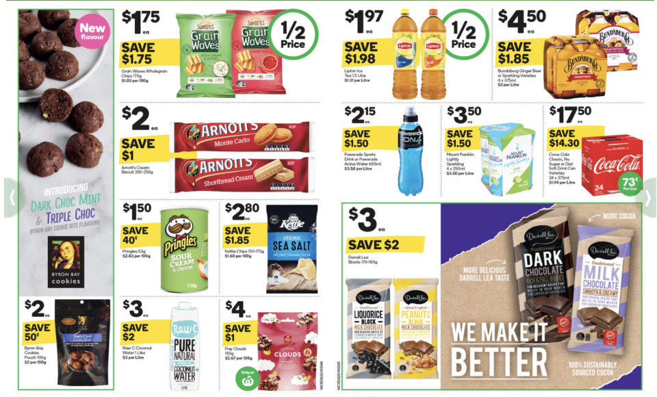 Woolworths latest catalogue has half-price items across a range of categories. Image: Getty