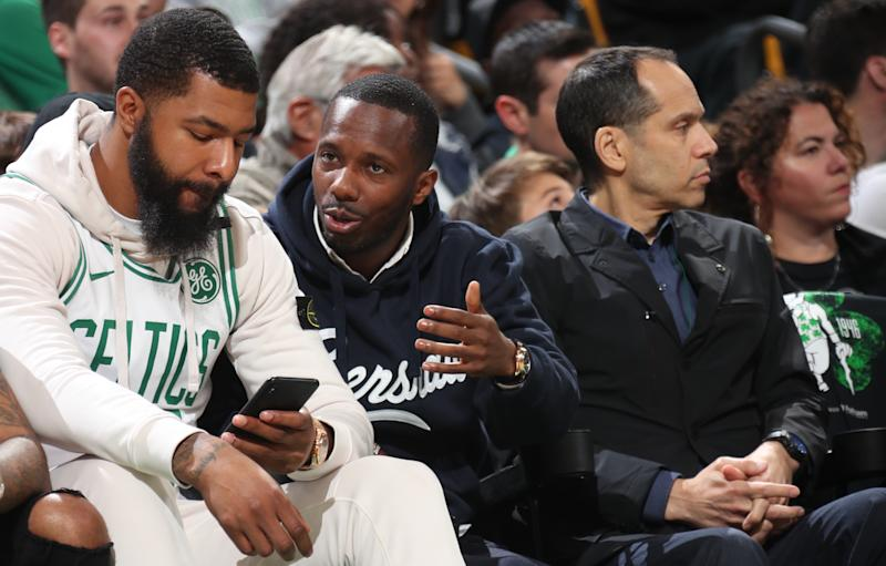 Agent Rich Paul is not interested in talking contract extension with the Celtics. (Getty Images)