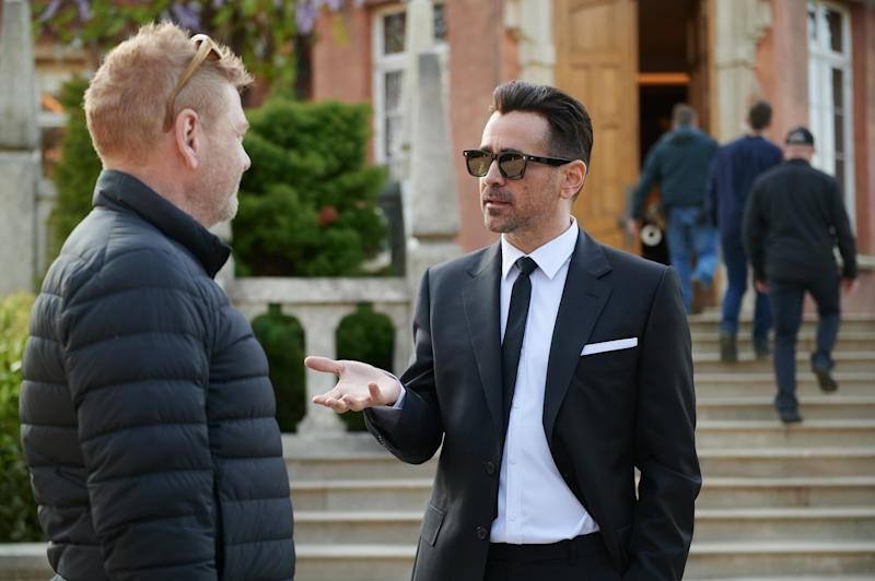 Kenneth Branagh and Colin Ferrell on the set of Disney's ARTEMIS FOWL.